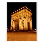 Arc de Triomphe Illuminated Small Poster