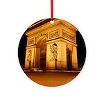 Arc de Triomphe Illuminated Ornament (Round)