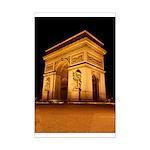 Arc de Triomphe Illuminated Mini Poster Print