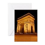 Arc de Triomphe Illuminated Greeting Cards (Pk of