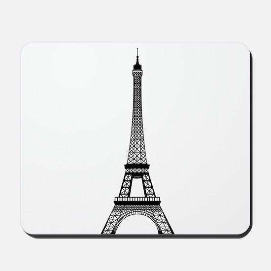 Eiffel Tower Outline Mousepad