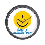 Have a Cyclops Day! Wall Clock