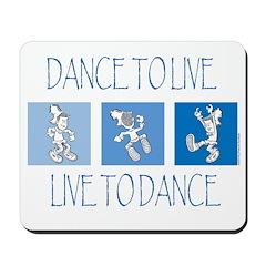 Curtis Dancing Blue Mousepad
