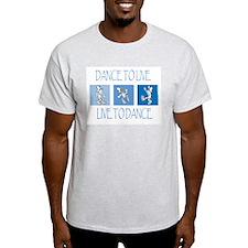 Curtis Dancing Blue Light T-Shirt