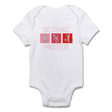 Live To Dance Red Infant Bodysuit