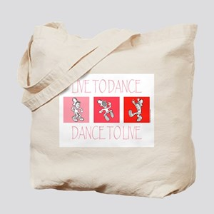 Live To Dance Red Tote Bag
