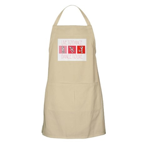 Live To Dance Red Apron
