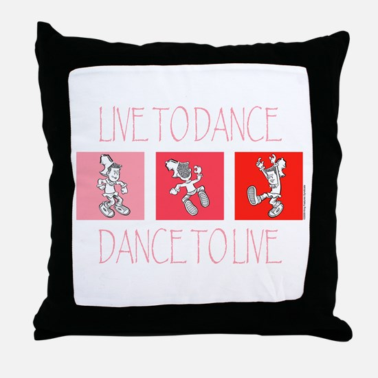 Live To Dance Red Throw Pillow