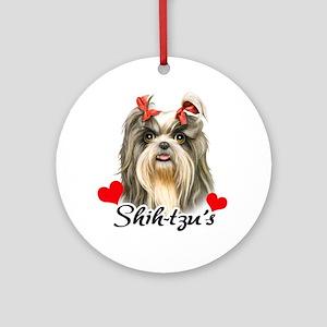 Love Shihtzu! Ornament (Round)