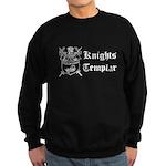 Knights Templar York Shield Black Sweatshirt