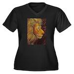 Shadow Fire Women's Plus Size V-Neck Dark T-Shirt