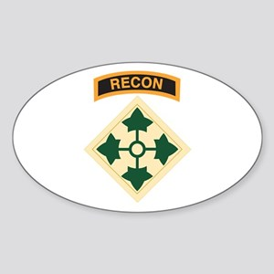 4th Infantry Div with Recon T Oval Sticker