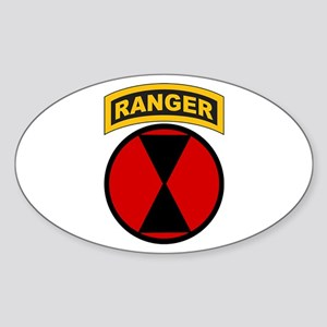 7th Infantry Div with Ranger Oval Sticker
