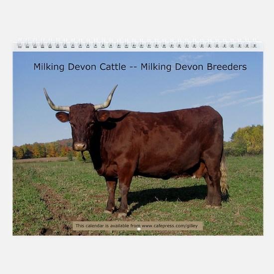 Devons and Devon Breeders Wall Calendar