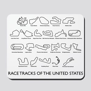 Race Tracks of the United States Mousepad