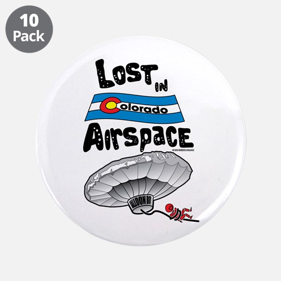 """Balloon Boy Lost In Space 3.5"""" Button (10 pack)"""
