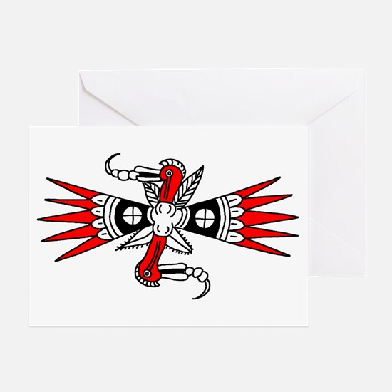 Southeastern Woodpecker Motif Greeting Card