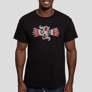 Southeastern Woodpecker Motif Men's Fitted T-Shirt