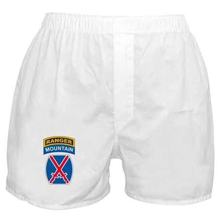 10th Mountain Div with Ranger Boxer Shorts