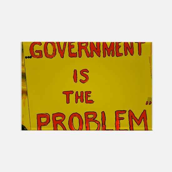 Government is the Problem Rectangle Magnet