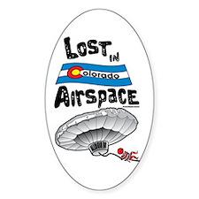 Balloon Boy Lost In Space Oval Sticker