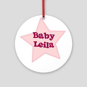 Baby Leila Ornament (Round)