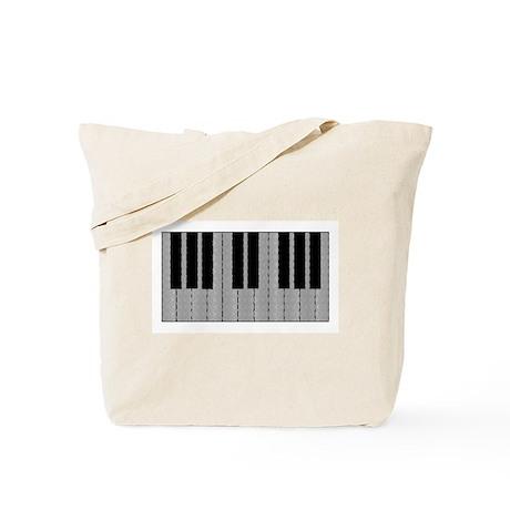 Optical Illusion Piano Tote Bag