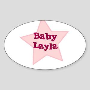 Baby Layla Oval Sticker