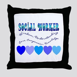Social Worker III Throw Pillow