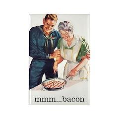 Bacon Fridge Rectangle Magnet