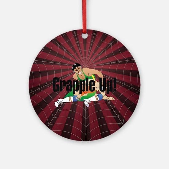Wrestling Slogan Round Ornament