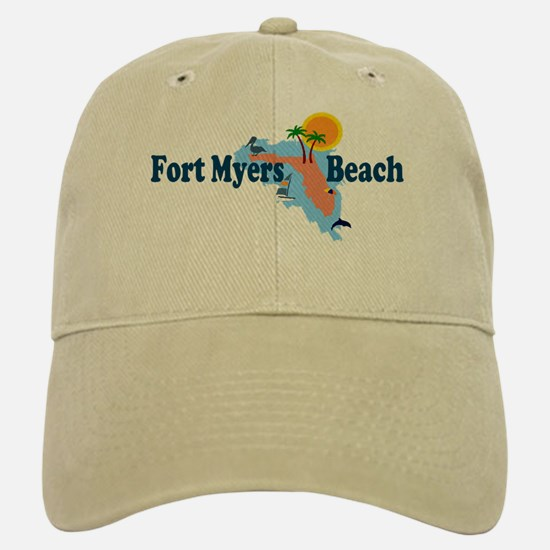 Fort Myers Beach FL Baseball Baseball Cap