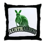 AustrAlien Throw Pillow