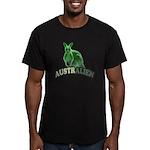 AustrAlien Men's Fitted T-Shirt (dark)