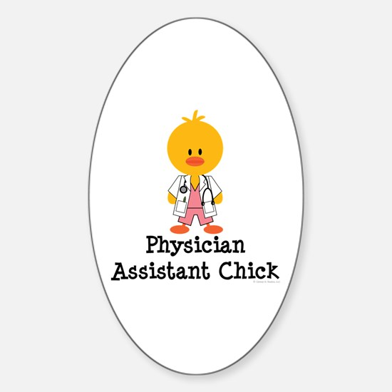 Physician Assistant Chick Oval Decal