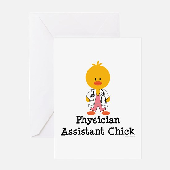 Physician Assistant Chick Greeting Card