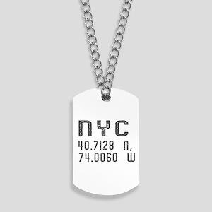 NYC Coordinates Dog Tags