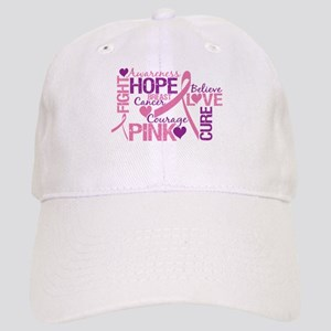 Breast Cancer Words Cap