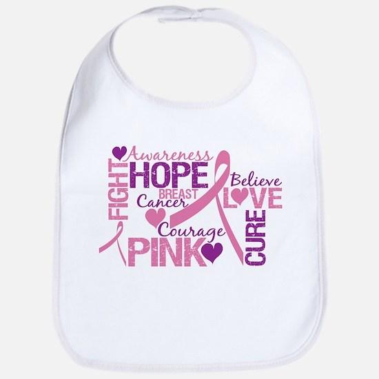 Breast Cancer Words Bib