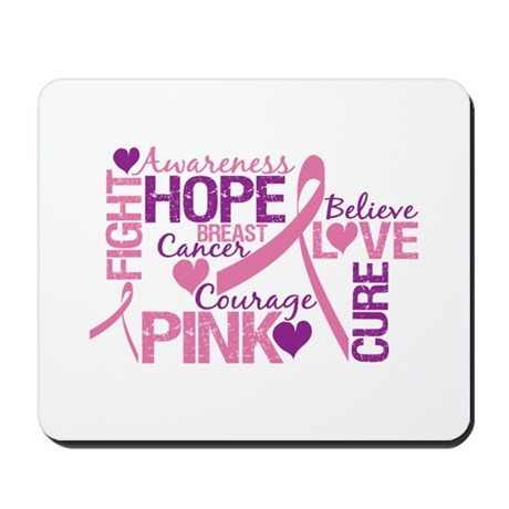 Breast Cancer Words Mousepad