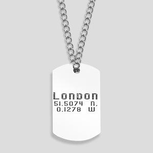 London Latitude & Longitude Dog Tags