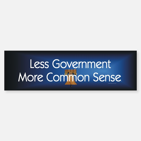 Less Government Sticker (Bumper)