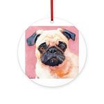 Riccoboni Pug dog Ornament (Round)