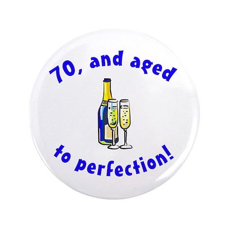 """Vintage 70th Birthday 3.5"""" Button"""