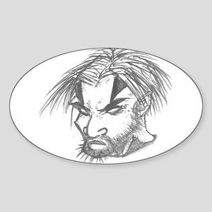 crazy guy Oval Sticker