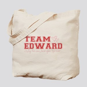 Team Edward-Only he can love Tote Bag