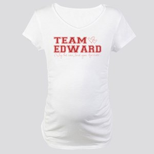 Team Edward-Only he can love Maternity T-Shirt