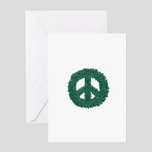 Peace Wreath Greeting Card