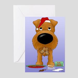 Irish Terrier Santa Greeting Cards (Pk of 20)