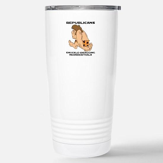 Republican Neanderthals Stainless Steel Travel Mug